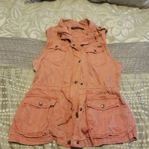 Max Jeans salmon pink vest S NEW